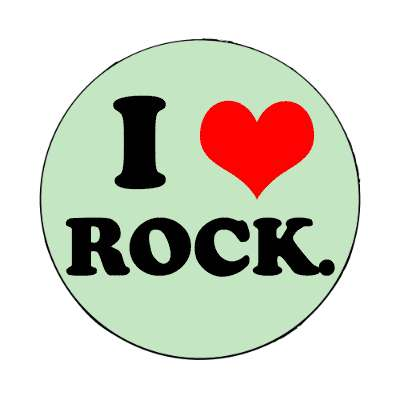 i love rock red heart magnet