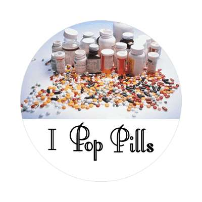 i pop pills sticker