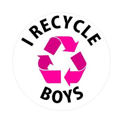 i recycle boys sticker