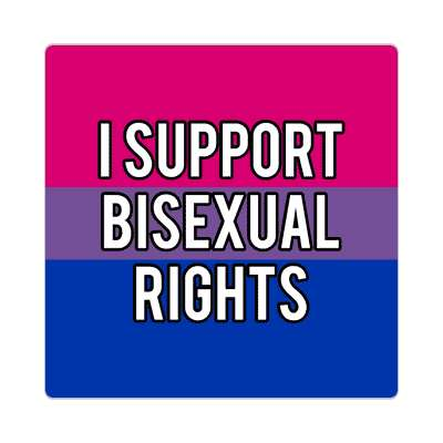 i support bisexual rights sticker