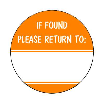if found please return to orange fill in magnet