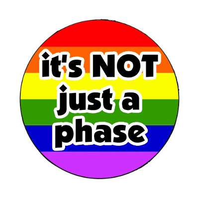 its not just a phase lgbt rainbow magnet