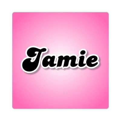 jamie female name pink sticker
