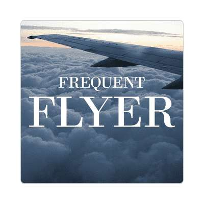 jet pilot frequent flyer sticker