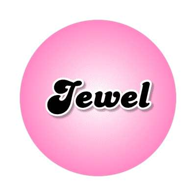 jewel female name pink sticker