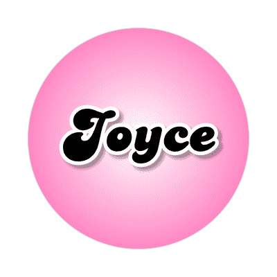 joyce female name pink sticker