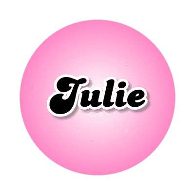julie female name pink sticker