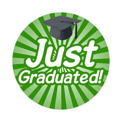 just graduated sticker