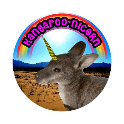 kangaroonicorn wordplay cute sticker