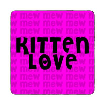 kitten love purple mew magnet