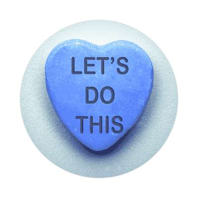 lets do this valentines day heart candy sticker