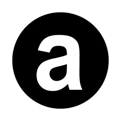 letter a lowercase black white sticker