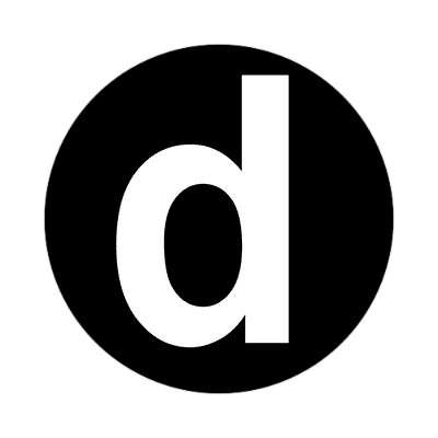 letter d lowercase black white sticker