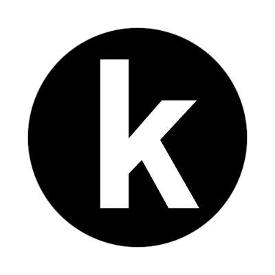 letter k lowercase black white sticker