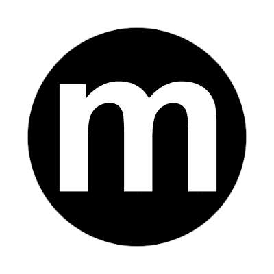 letter m lowercase black white sticker