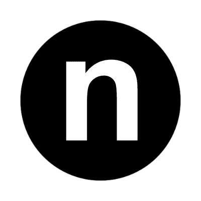 letter n lowercase black white sticker