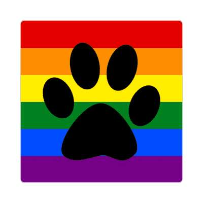 lgbt dog paw sticker