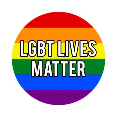 lgbt lives matter flag rainbow sticker