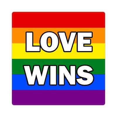 lgbt love wins flag rainbow sticker