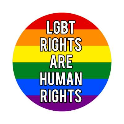 lgbt rights are human rights rainbow sticker