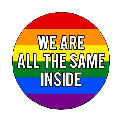 lgbt we are all the same on the inside magnet