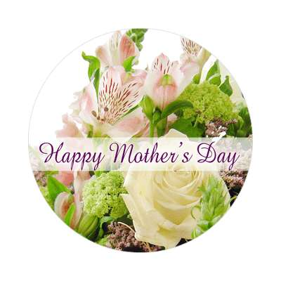 light flowers happy mothers day sticker