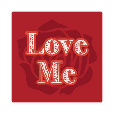love me red rose sticker