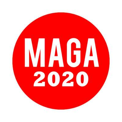maga 2020 make america great again sticker