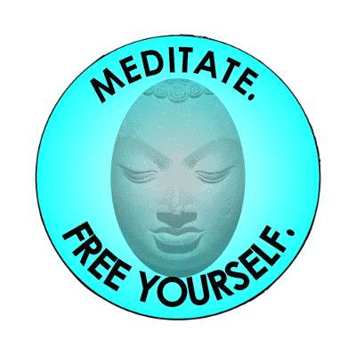 meditate free yourself magnet
