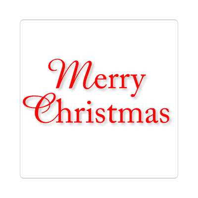 merry christmas classic red white sticker