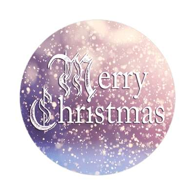 merry christmas old style snowing frost sticker