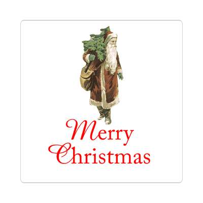 merry christmas retro santa gifts classic sticker