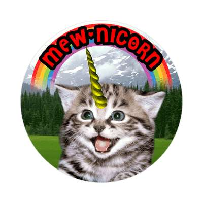 mewnicorn wordplay cute sticker