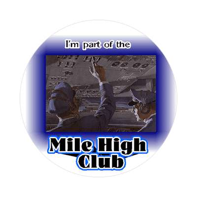 mile high club airplane sticker