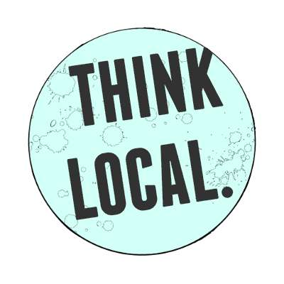 mint modern think local magnet