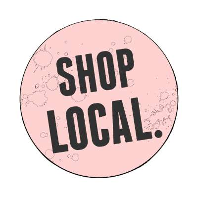 modern shop local pink magnet