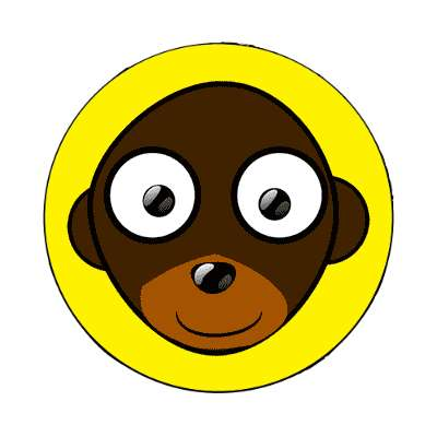 monkey cartoon cute animal magnet