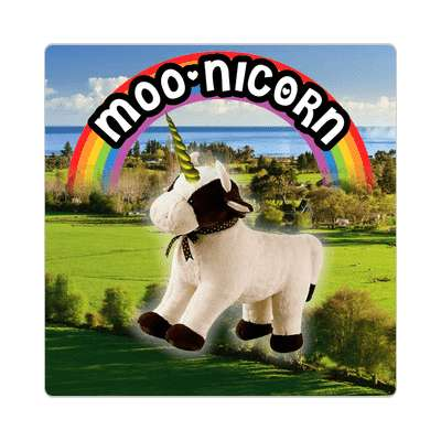 moonicorn wordplay cute sticker