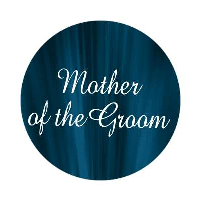 mother of the groom curtain dark blue sticker