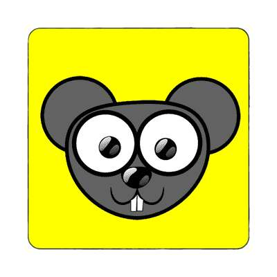 mouse cartoon cute animal magnet