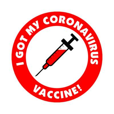 needle i got my coronavirus vaccine red stickers, magnet