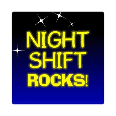 night shift rocks sticker