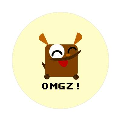 omgz cute dog cartoon animal sticker