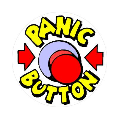 panic button red arrows sticker