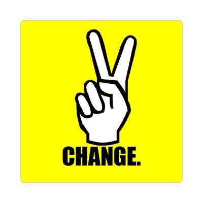 peace change hand sign sticker