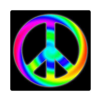 peace sign raindbow swirl sticker