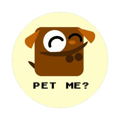 pet me cartoon cute animal sticker
