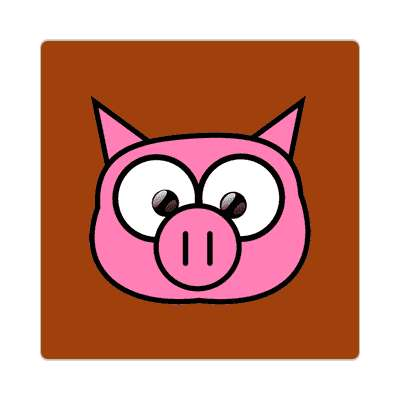 pig cartoon cute animal sticker