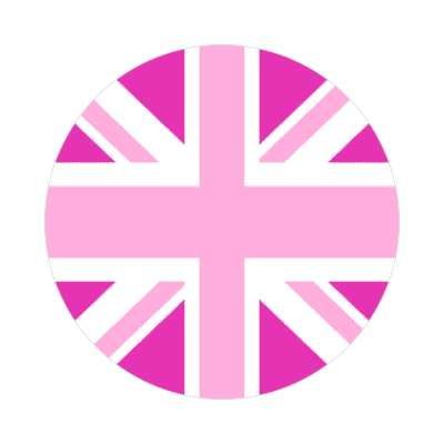 pink jack flag sticker