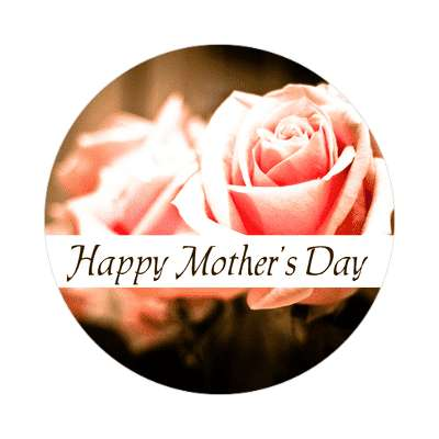 pink roses happy mothers day sticker